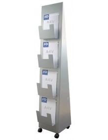 Moveable  slotted display stand.