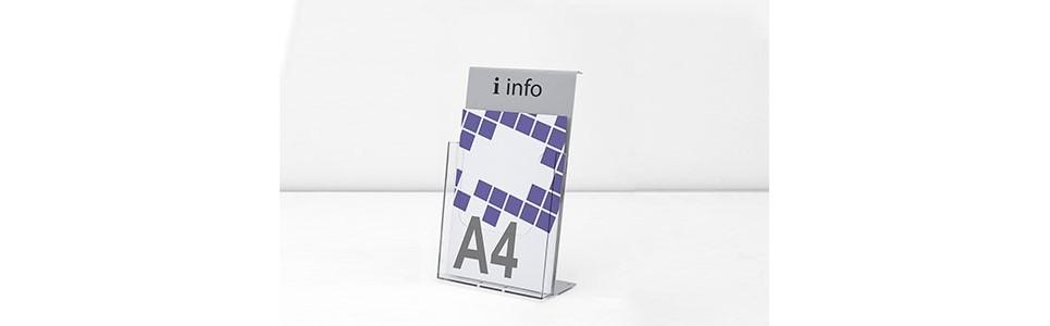 Porta folletos ✅ Expositores metacrilato ✅ Soporte folletos Sobremesa